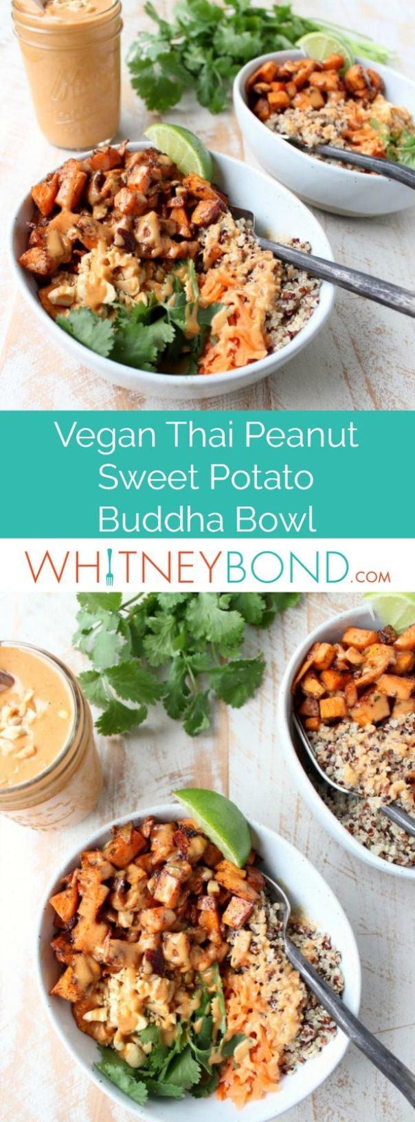 Thai Peanut Sweet Potato Buddha Bowl Recipe - WhitneyBond.com