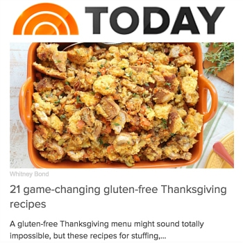 Whitney Bond TODAY Food Article November 2016 Gluten Free Thanksgiving