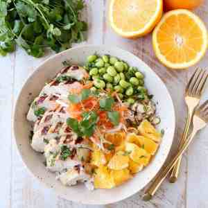 Healthy Asian Chicken Rice Bowls