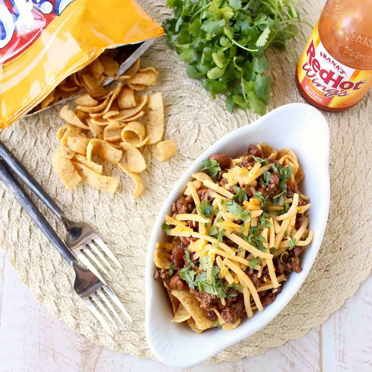 Buffalo Frito Chili Pie