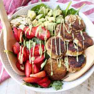 Crispy Goat Cheese Avocado & Strawberry Salad