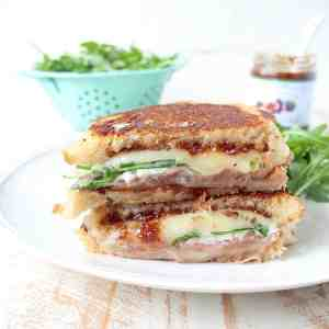 Prosciutto Provolone Fig Grilled Cheese