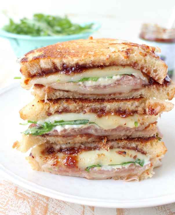 Grilled Cheese Sandwich recipe is filled with prosciutto, blue cheese ...