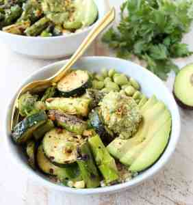 Grilled Veggie Vegan Buddha Bowl