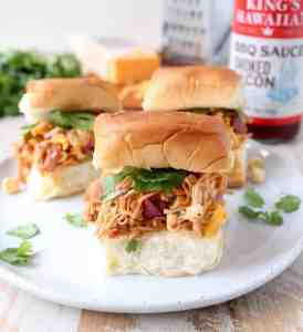 BBQ Chicken Salad Sliders