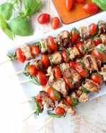 Tomato Basil Chicken Skewers