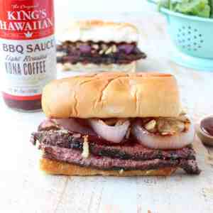 Coffee Rubbed BBQ Steak Sandwich