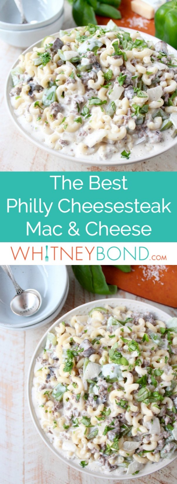 This insanely delicious Mac and Cheese recipe is a seriously scrumptious twist on the Philly Cheesesteak and it's easily made in only 29 minutes!
