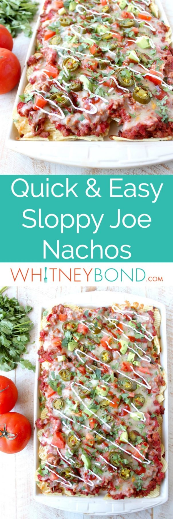 Ditch the bun for these Sloppy Joe Nachos! An easy recipe that's great for game day or a fun and simple weeknight dinner!