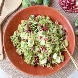 Brussels Sprout Salad with Dijon Dressing