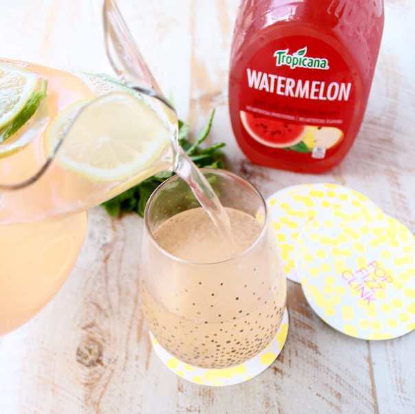 Watermelon Mint Champagne Punch