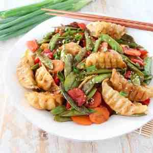 Chicken Potsticker Stir Fry