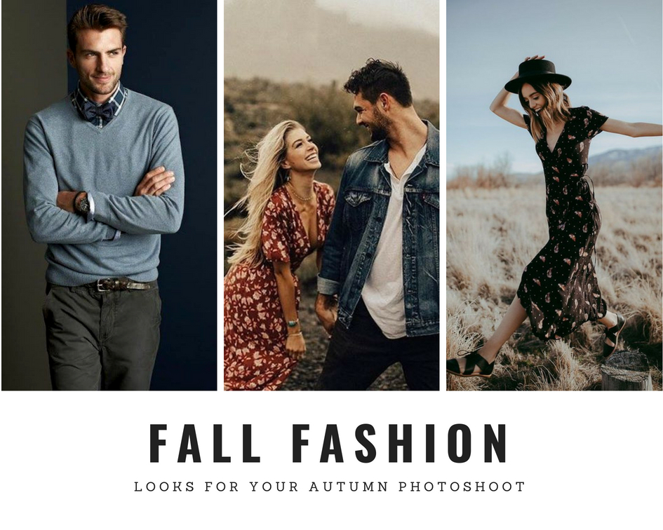 how to dress for your autumn photoshoot couples engagement photos