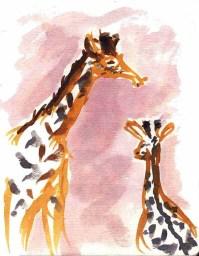 Giraffes Watercolor
