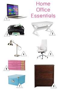 how to setup your home office + my favorite office essentials via whitneyjdecor.com
