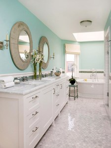 paint your bathrooms walls to add more color