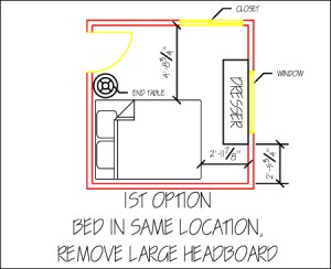 space planning a small bedroom