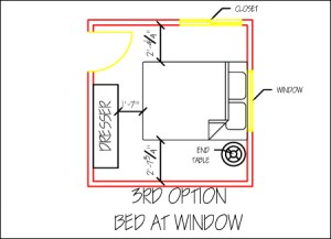 3rd alternate option for small, shared bedroom