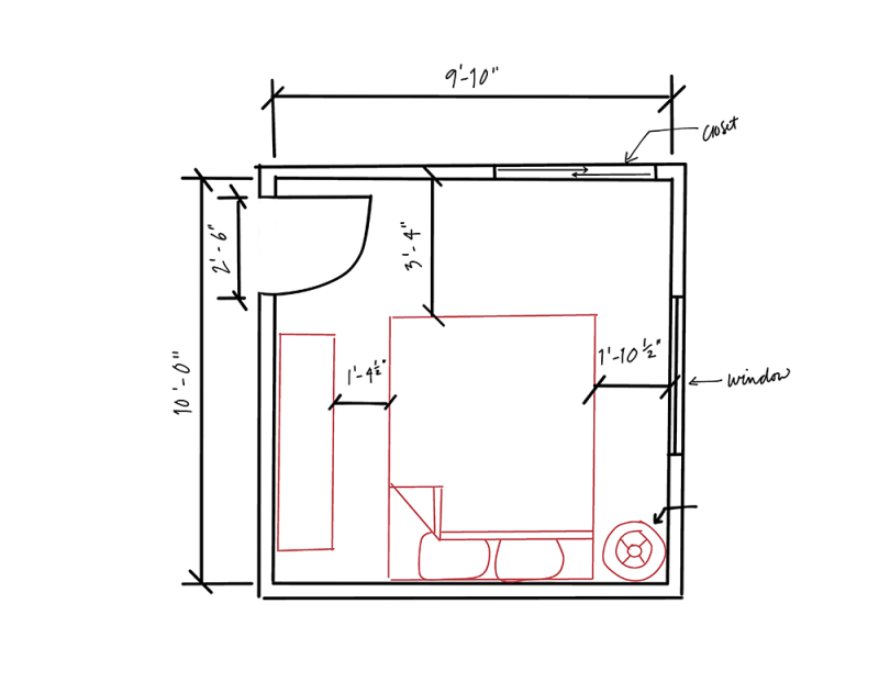 floor plan for small bedroom