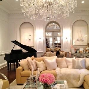 glamorous living room