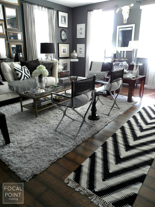 BLACK & WHITE LIVING ROOM LYNDA QUINTERO-DAVIDS FOCAL POINT STYLING  (3) 760