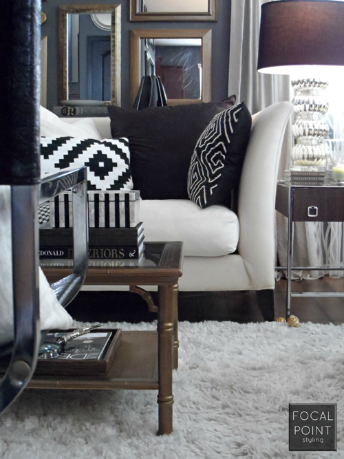 BLACK & WHITE LIVING ROOM LYNDA QUINTERO-DAVIDS FOCAL POINT STYLING  (9) 1000