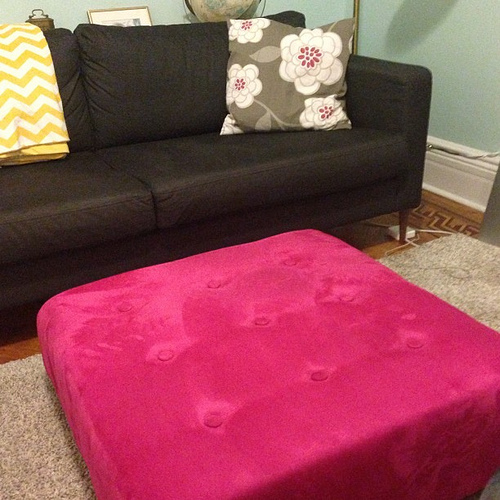 Olivia's decorating no-no: tufted ottomans