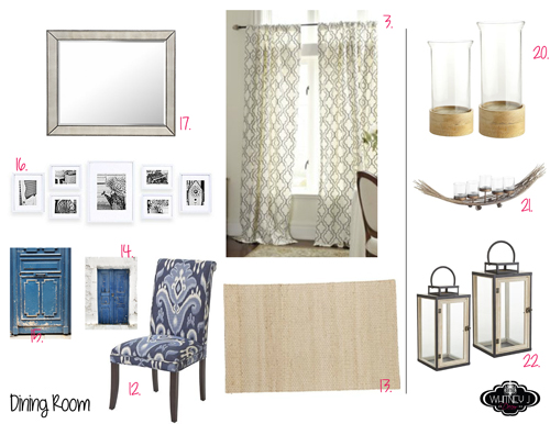 design board for dining room - e decor package