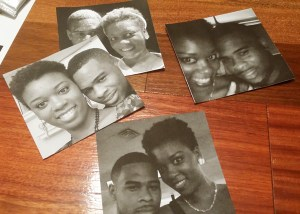 closeup of the photos used for the DIY photo coasters