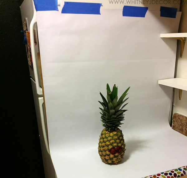 Small Kitchen Update Diy Framed Pineapple Art Photography