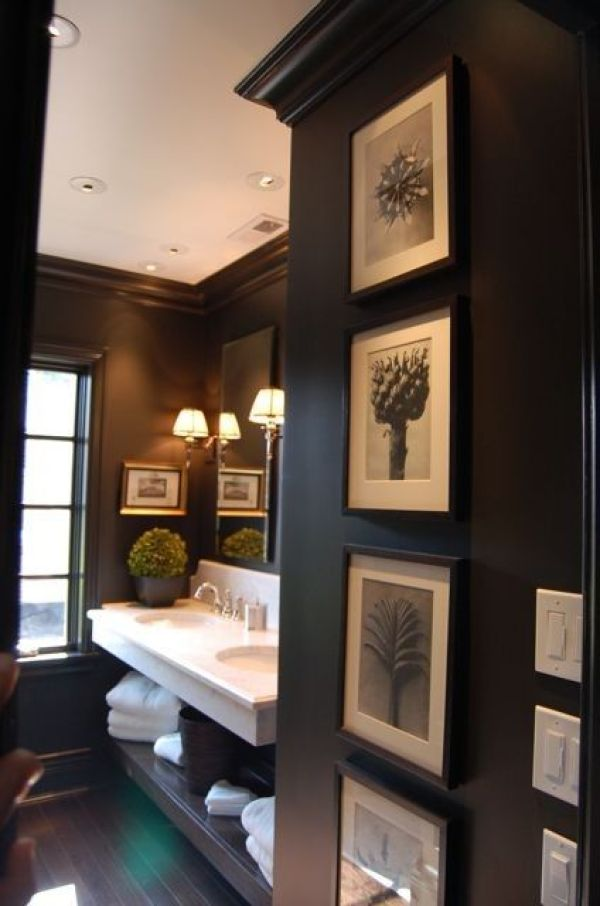 black walls in small spaces