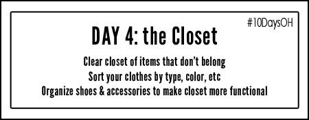 organize closet #10DaysOH