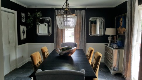 Bold, Transitional Dining Room