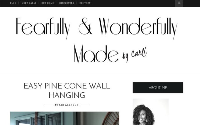 Carli, of Fearfully & Wonderfully Made - easy pine cone wall hanging
