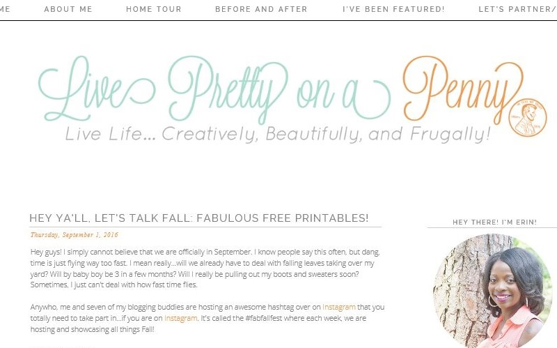 Erin, of Live Pretty on a Penny - free printables