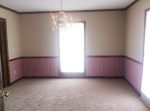 dining room before for the one room challenge