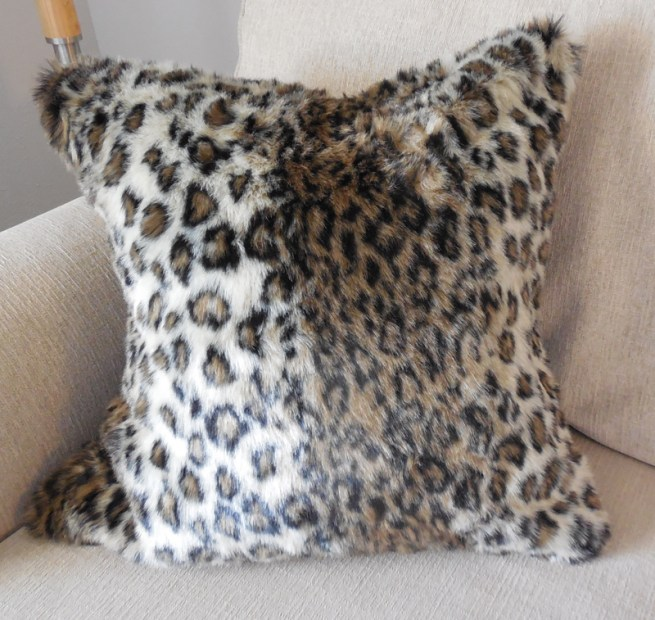 leopard faux fur pillow cover