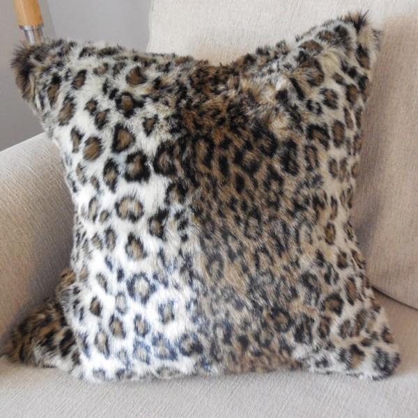 leopard faux fur pillow cover