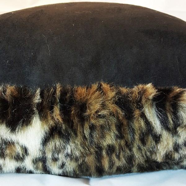 leopard print faux fur pillow cover