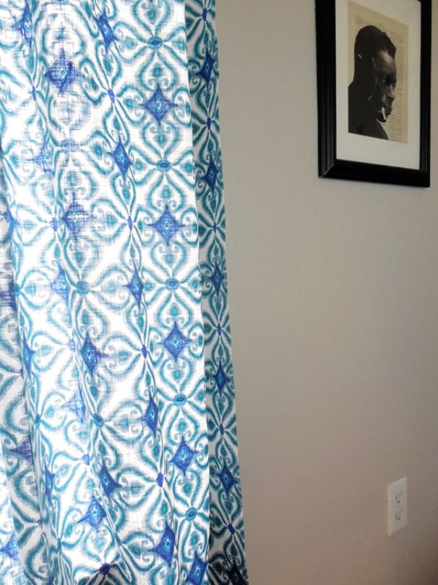 blue living room curtains via whitneyjdecor.com