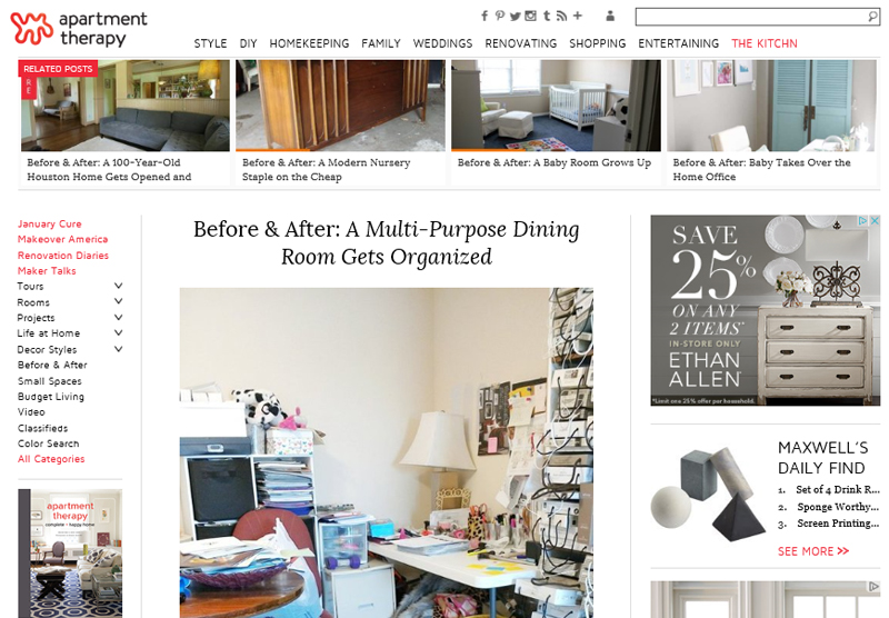 home office featured on apartment therapy