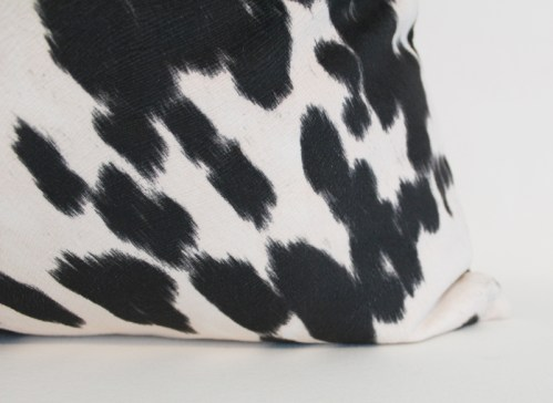 972bcda6e04 Black and White Cow Print Pillow Cover