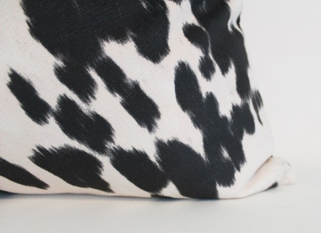 black and white cow print