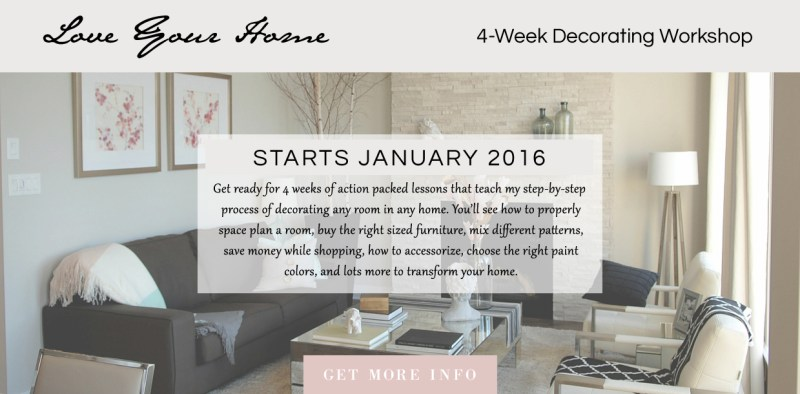 love your home - decorating workshop