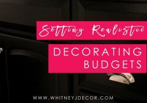setting realistic decorating budgets