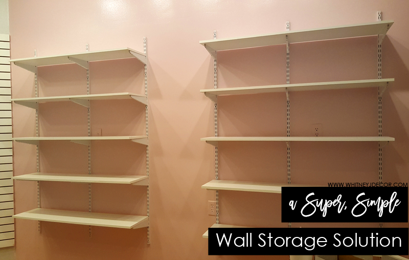 super easy wall storage solution