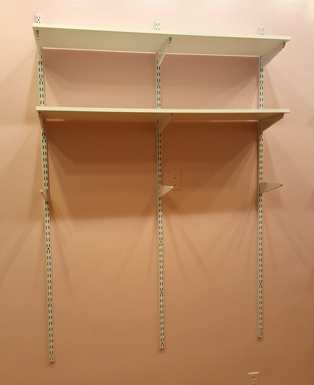 a super simple wall storage solution