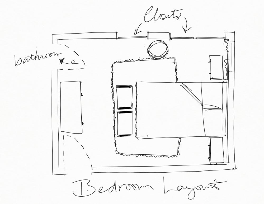 eclectic bedroom layout | one room challenge bedroom layout | my bedroom layout for the one room challenge