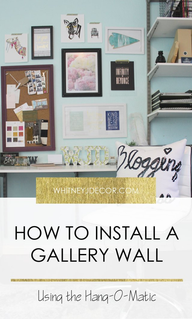 hanging a gallery wall with hang-o-matic   installing a gallery wall   gallery wall ideas   hanging art   how to install a gallery wall