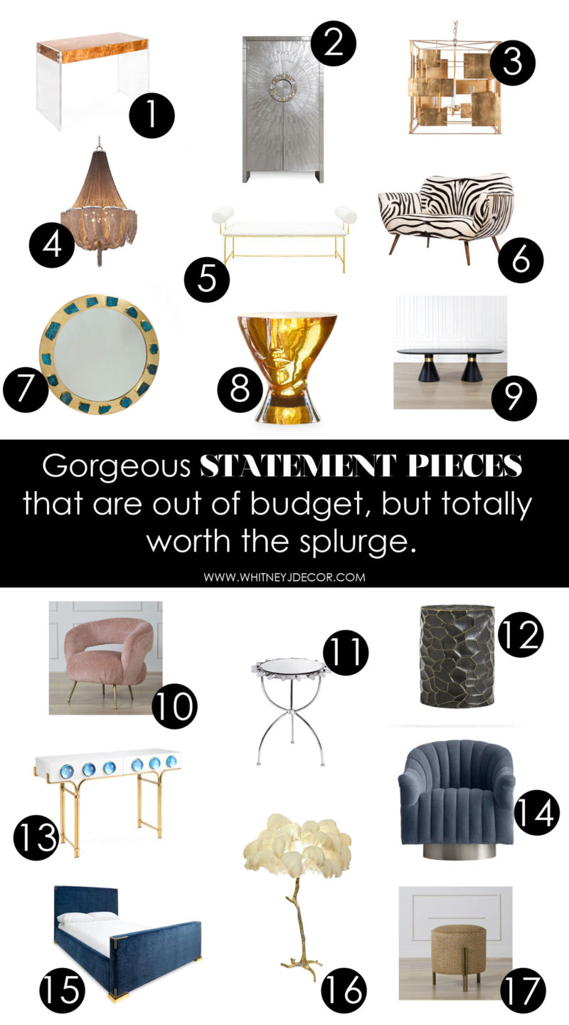 statement pieces for the home   home decor   statetement furniture